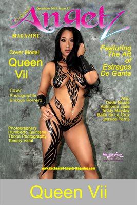 ENCHANTED ANGELZ MAGAZINE COVER POSTER - ESTRAGOS DE GANTE SPECIAL EDITION - Cover Model Queen Vii - December 2019