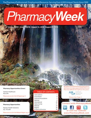 Pharmacy Week, Volume XXVII - Issue 29 & 30 - August 12, 2018 - August 25, 2018