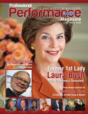 Laura Bush/Warren Buffett Edition - Performance360, V. 19, I. 3
