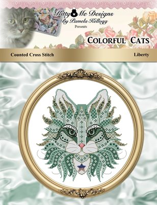 Colorful Cats Liberty Counted Cross Stitch Pattern