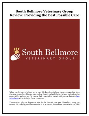 South Bellmore Veterinary Group Review: Providing the Best Possible Care