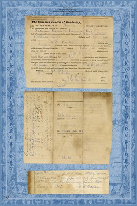1870 G.W. Barton vs. William Ritch & Samuel Orr, Graves County, Kentucky