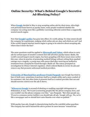 Online Security: What's Behind Google's Secretive Ad-Blocking Policy?