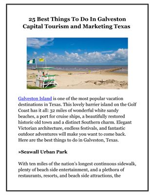 25 Best Things To Do In Galveston Capital Tourism and Marketing Texas