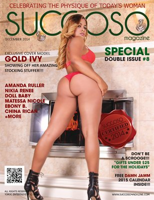 Succoso Magazine Double Issue #8 ft Cover Model Gold Ivy
