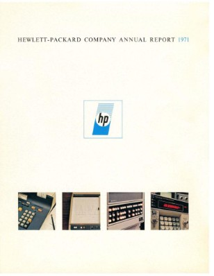 HP Annual Report 1971