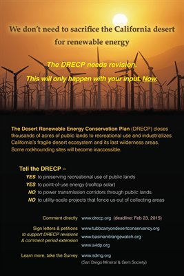 "Tell DRECP ""We don't need to sacrifice the California desert for renewable energy."""