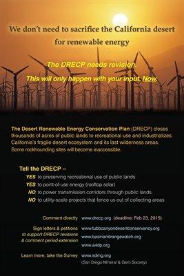"Tell DRECP ""We don't need to sacrifice the California desert for renewable energy."""