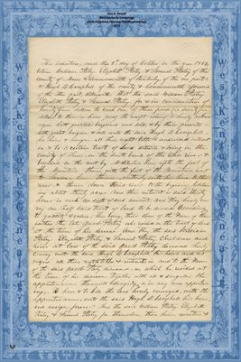 (PAGES 1-2) 1854 DEED, WILLIAM STALEY TO HUGH D. CAMPBELL, MASON & LEWIS COUNTIES KENTUCKY