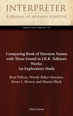 Comparing Book of Mormon Names with Those Found in J.R.R. Tolkien's Works: An Exploratory Study