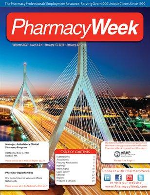 Pharmacy Week, Volume XXV - Issue 3 & 4 - January 17, 2016 - January 30, 2016