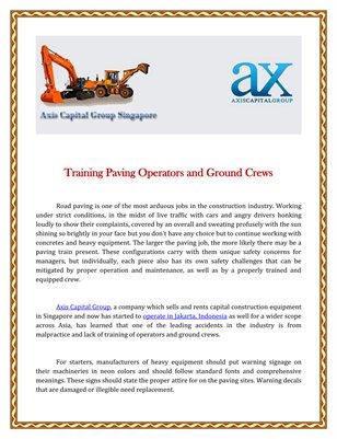 Training Paving Operators and Ground Crews