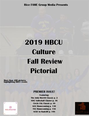 Rice FAME Group Media Presents 2019 HBCU Culture Fall Review Pictorial
