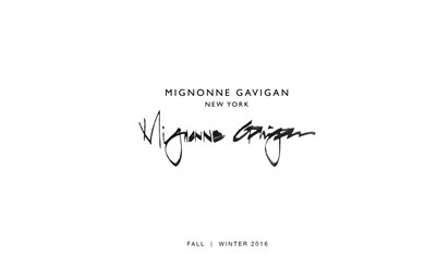 Mignonne Gavigan - Fall / Winter 2016