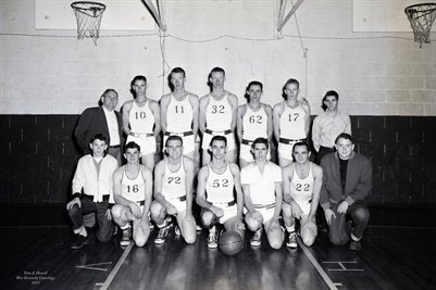 Dec 9, 1955 Sedalia Basketball Team, Graves County, Kentucky
