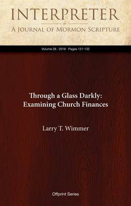 Through a Glass Darkly: Examining Church Finances