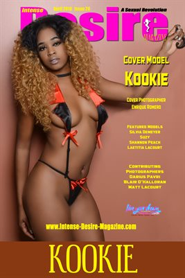 INTENSE DESIRE MAGAZINE COVER POSTER- Cover Model Kookie - April 2018