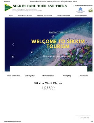 Best Tour & Travel Company in Sikkim _ Sikkim Group Package Tour Agent