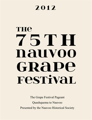 Nauvoo Grape Festival Program 2012