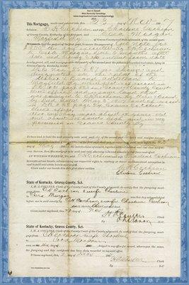 1907 Mortgage, C. H. Cochran to Cora Morgan, Graves County, Kentucky