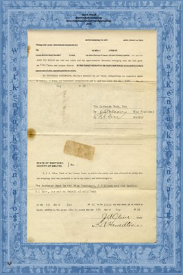 (PAGES 3-4) 1933 Deed, Exchange Bank to Ed Gardner & C.C. Wyatt, Graves County, KY