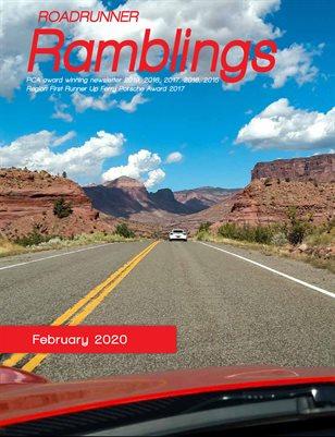 Roadrunner Ramblings February 2020