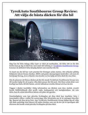 Tyre&Auto Southbourne Group Review: Att välja de bästa däcken för din bil