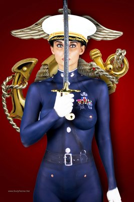 Marine Historical Body Painting Collage