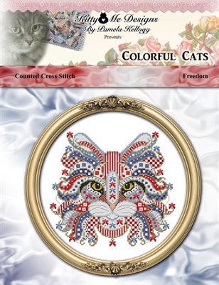 Colorful Cats Freedom Counted Cross Stitch Pattern
