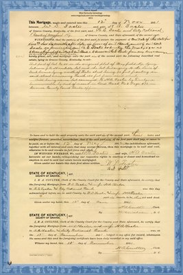 1901 Mortgage, W.D. Foster to R.E. Foster, Graves County, Kentucky