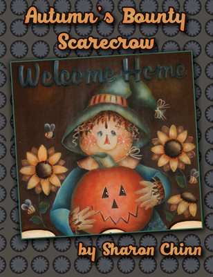 Autumn's Bounty Scarecrow Banner by Sharon Chinn