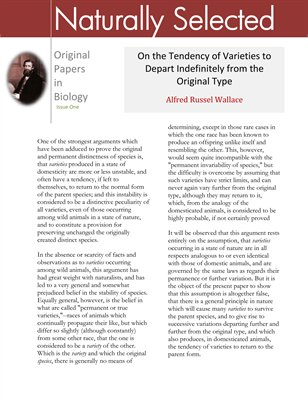 Original Papers in Biology: Alfred Russel Wallace