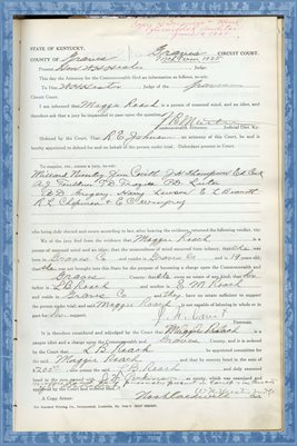 1925 State of Kentucky vs. MAGGIE ROACH, Graves County, Kentucky