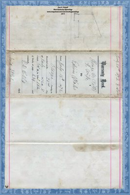 (PAGES 1-2) 1872 OTSEGO COUNTY, WARRANTY DEED GEORGE M PITTS TO EDWIN WALES