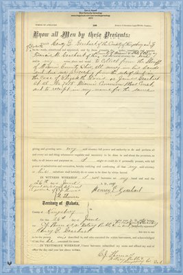 1884 Power of Attorney Gearhart to Gearhart, Miami County, Ohio