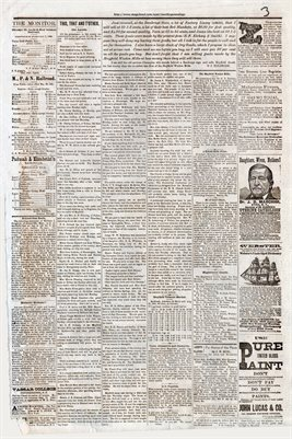 (PAGES 3-4) SEPTEMBER 03, 1881 MAYFIELD MONITOR NEWSPAPER, MAYFIELD, GRAVES COUNTY, KENTUCKY