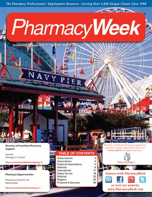 Pharmacy Week, Volume XXIV - Issue 16 & 17 - April 26 - May 9, 2015