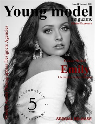 Young model Magazine Issue 12 Volume 5 2021 Black and White Special Release Issue