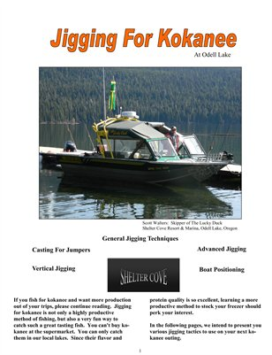 Jigging for Kokanee at Odell Lake