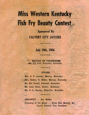 1964 Miss Western Kentucky Fish Fry Beauty Contest