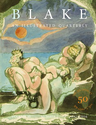 Blake/An Illustrated Quarterly vol. 50, no. 2 (fall 2016)
