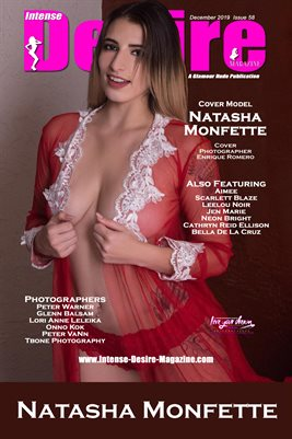 INTENSE DESIRE MAGAZINE COVER POSTER - Cover Model Natasha Monfette - December 2019