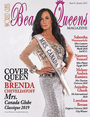 World Class Beauty Queens Magazine Issue 91 with Brenda Cheveldayoff Mrs. Canada Globe Classique 2019