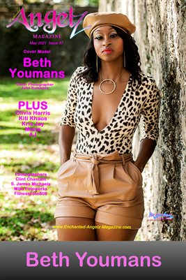 ENCHANTED ANGELZ MAGAZINE COVER POSTER - Cover Model Beth Youmans - May 2021