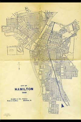 1934 Hamilton, Ohio Map