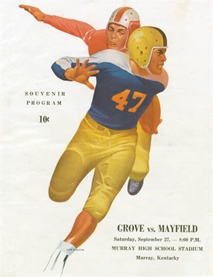SEPT 27, 1947 MAYFIELD KENTUCKY FOOTBALL SOUVENIR PROGRAM, GROVES VS. MAYFIELD