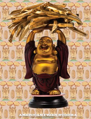 American Fries Buddha Poster