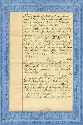 (PAGES 3-4) 1891 S.L. Simpson Mortgage with Citizens Savings Bank, McCracken County, Kentucky