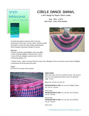 Circle Dance Shawl