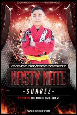 Nasty Nate Suarez Red Splash - Poster